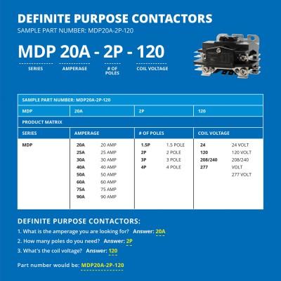 3 Pole Definite Purpose Contactor