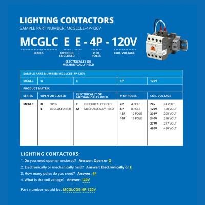 Electrically Held/Open Lighting Contactor